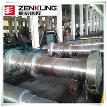 cheap and high quality customized steel forged main shaft for water turbine china manufacturer zenkung