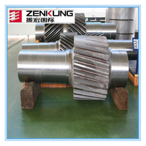 steel casting worm gear rotor wheel shaft helical gear shaft