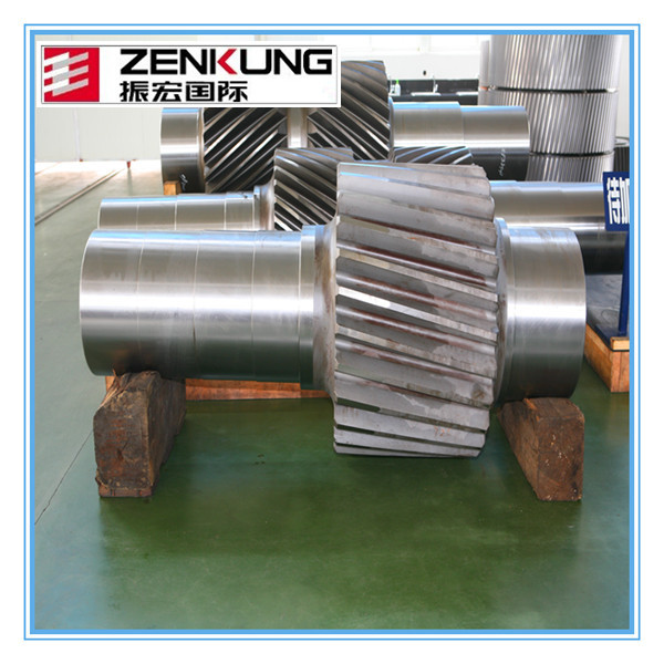 steel casting worm gear rotor wheel shaft helical gear shaft made in zenkung