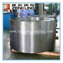 Forged tube for pressure vessles